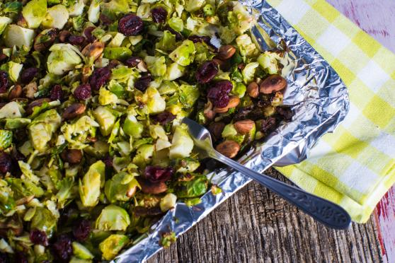 Shaved Brussel Sprout Salad for Thanksgiving